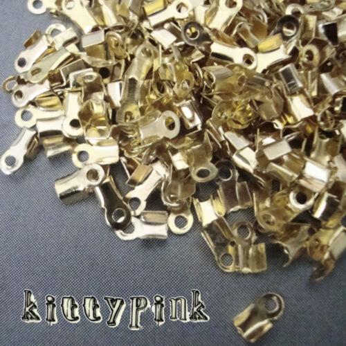500 final cordón Crimp Tapas Bail consejos 6 X 4 X 2mm elegir Plata Oro Bronce Antigua