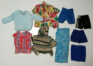 Barbie-Ken-Doll-assorted-male-CLOTHING-LOT-9-PIECES-shirts-sweater-shorts-pants