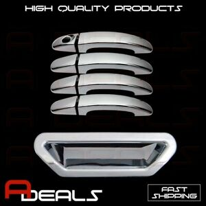 For 2013 2014 Ford ESCAPE 4 Chrome Door Handle Covers WITHOUT PS//Smart Keyhole