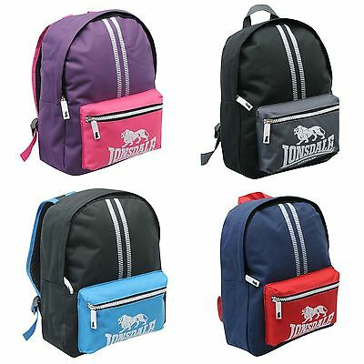 Lonsdale Backpack Mini Gym fitness running School Bag Rucksack Various colours