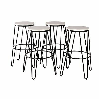 Amazing Tully Backless Modern Two Toned Wood And Metal Bar Stools Set Of 4 Ebay Dailytribune Chair Design For Home Dailytribuneorg