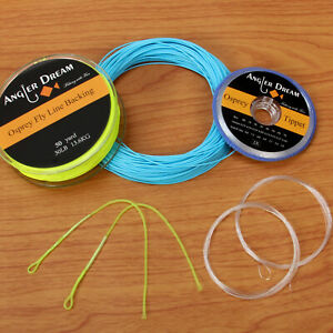 Blue-Green-Weight-Forward-Fly-Line-1-2-3-4-5-6-7-8-9WT-WF-Fly-Fishing-Line-Combo