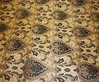 Chenille Monte Cristo Black Damask Upholstery Fabric With Gold Fabrics 55 Wide