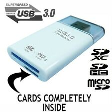 USB 3.0 MEMORY CARD READER SDXC SDHC SD MICROSD ADAPTER STICK PEN FLASH DRIVE