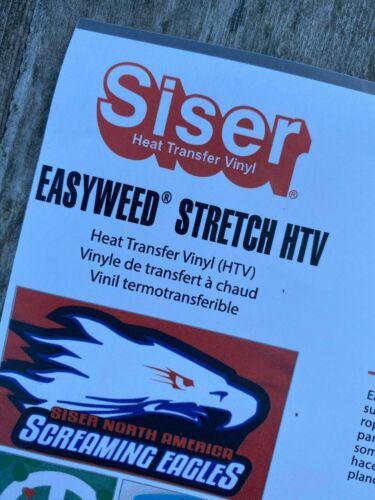 environ 9.14 m Siser easyweed ® Stretch HTV Heat Transfer Vinyl T-shirts Black /& White 10 Yd