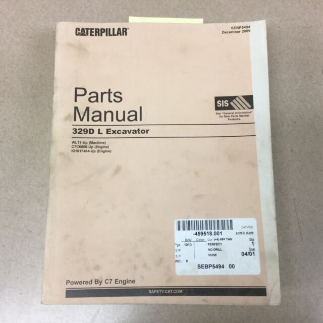 CAT Caterpillar 329d L Excavator Parts Manual Wlt1-up
