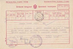 Serbien-Telegramm-Krgujeval-Kreiskommandantur-1942-Besetzung-WW-II
