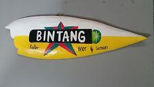 """"""" Bintang Radler """" Timber Surfboard Alcohol Beer Bar Garage or Home Sign"""