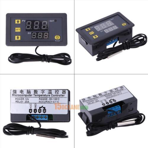 Termostato Digital DC12V Regulador De Temperatura Sensor De Temperatura Control Relé 20A