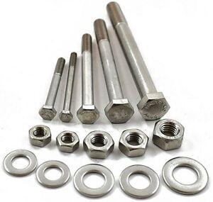 M6 A4 Marine Grade Stainless Steel Hex Bolt Partial Threaded Set Screw Hexagon