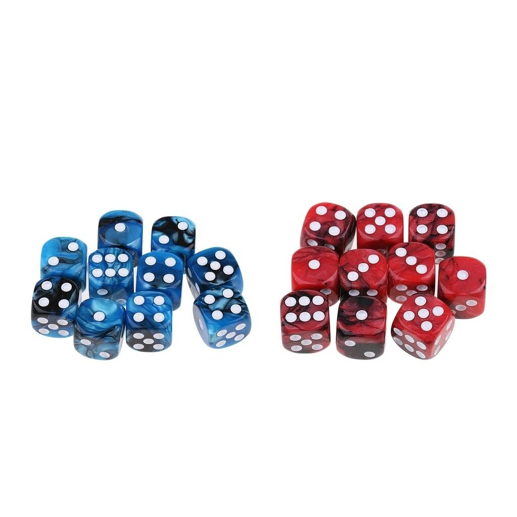 25x Acrylic Table Board Game Dice D6 Six Sided Numbered for TRPG MTG DND Toy