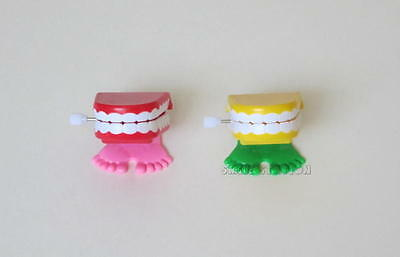 12 Wind Up Chattering Teeth Kid Party Goody Loot Bag Toy Filler Favor Supply