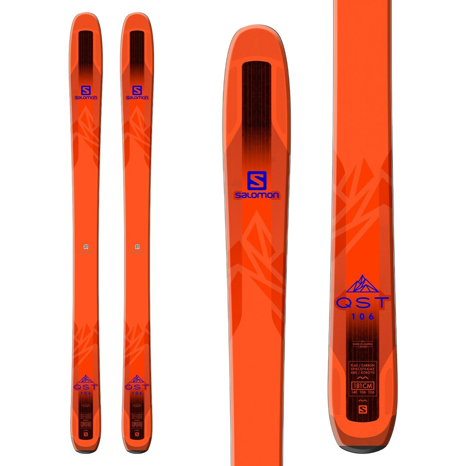 Skifahren All Mountain Ski Super Leicht Salomon Qst 106 Freeride All Mountain