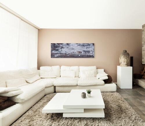 Leinwandbild Panorama grau braun Paul Sinus Abstrakt/_629/_150x50cm