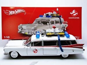 1-18-HOT-WHEELS-HERITAGE-Modele-de-film-GHOSTBUSTERS-ECTO-1-Cadillac