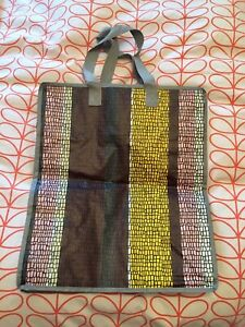 Ikea Plastic Re-usable Zip Up Bag With Canvas Handles. New No Tag.