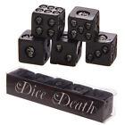 Set of 5 Black Resin Skull Dice SK200 Puckator