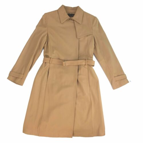 Women Coat Fawn With K22110 Kenneth Belt Long Leather Cole Hq41xtfS