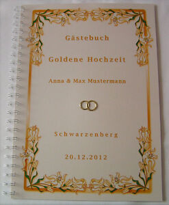 Gastebuch Goldene Hochzeit Goldhochzeit Geschenk 50 Hochzeitstag