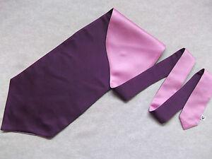Ascot Foulard Homme Mariage Chouchou Ruché Taille Unique Violet Rose-afficher Le Titre D'origine