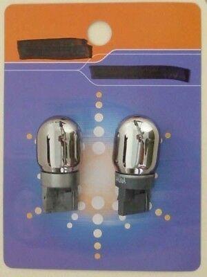 992 Silver Chrome Natural Amber Bulb 7440