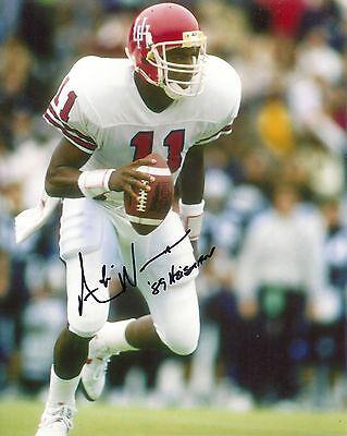 Andre Ware Houston Cougars Signed 8x10 Photo W/coa Football Photos