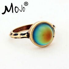 Beautiful Hand-made, Women's Antique Style Bronze Plated Color Change Mood Ring