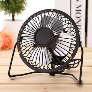 Small-Desk-Table-Fan-Personal-USB-Air-Circulator-Mini-Portable-Retro-amp-Quiet-Fan