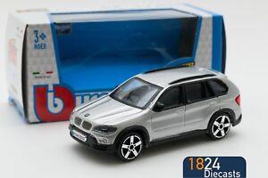 BMW-X5-in-Silver-Bburago-18-30145-scale-1-43-toy-car-model-gift-boy