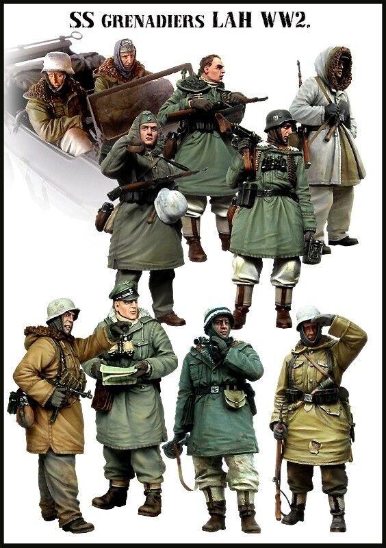 1 35 World War II German SS Grenadiers Resin Model Kit (10 Figures) BIG SET