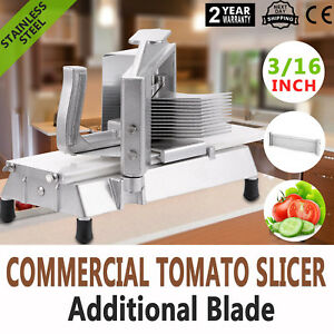 Commercial-Fruits-Tomato-Slicer-Cutter-3-16-034-Industrial-Frame-Stainless-Steel