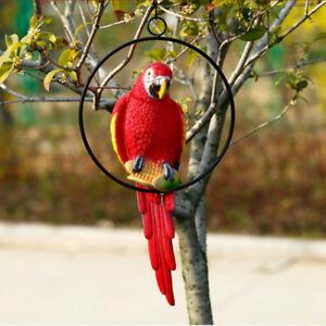 Image Is Loading Simulation Resin Parrot Home Decor Handcraft Animal Bird