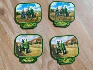 John Deere Commemorative Coasters - total of 4 - Model A & Model B tractor