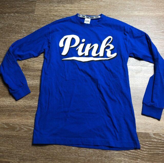 Victoria's Secret VS PINK Blue Sweatshirt Sz XS