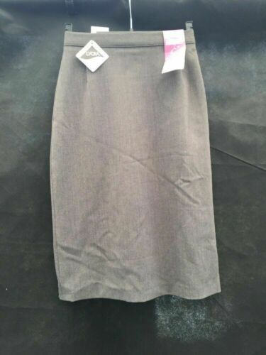 "Girls Mid Grey Pencil Straight School Skirt Waist 22"" Length 26"" SC72 Uniform"