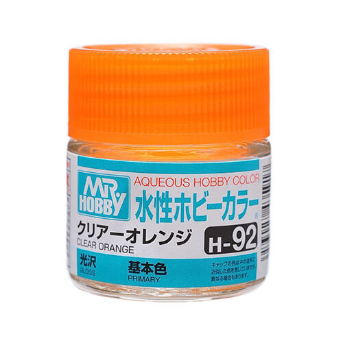 Mr Hobby Gunze Aqueous Color Acrylic H92 Clear Orange Old Model Paint 10ml Us
