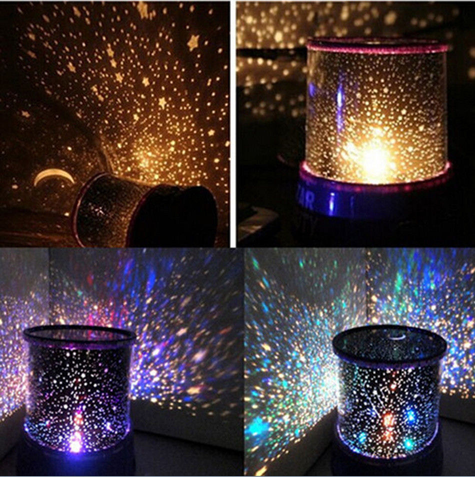 Romantic led starry night sky projector lamp kids gift star light picture show aloadofball Images