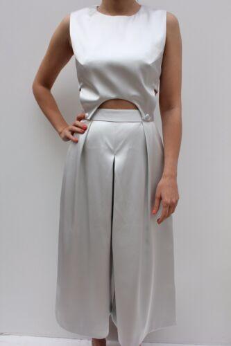 Bonded Silver Taglio 6 con un Satin completo vestito di Asos Premium tutina Novità 34 waqE5S