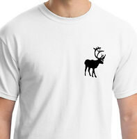 ELK WHITE T SHIRT ANIMAL GIFT BIRTHDAY MOOSE WINTER SCANDINAVIA