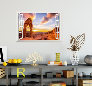 3D Sunset 0118 Open Windows WallPaper Murals Wall Print AJ Carly