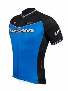 Lusso-Mens-Classico-Short-Sleeved-Jersey-Cycling-Blue-Black-NEW-RRP-49-99