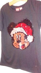 Idee Cadeau 10 Ans.Details Sur T Shirt Fille Disney Mickey Noel Sequins Reversible 9 10 Ans Neuf Idee Cadeau