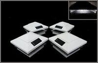 8pcs Set Solar White Post Deck Fence Cap Light For 4 X 4 Wood Post White Leds