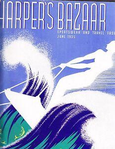 Image Is Loading Harper 039 S Bazaar June 1935 Erte Sportswear