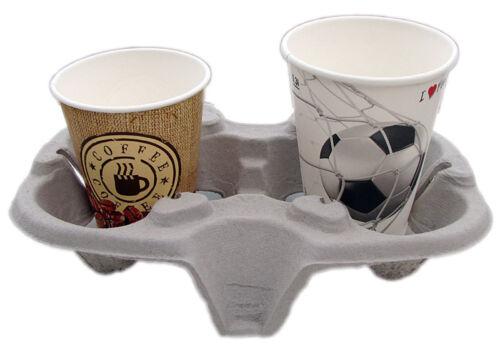 150 Stück Becherhalter 2er für 2 Becher Coffee to go Kaffeebecherhalter Pappe