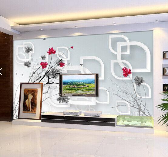 3D Gemalte Blaumen 5889 Tapete Tapeten Mauer Foto Familie Tapete Wandgemälde DE
