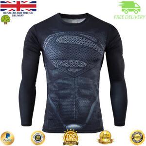 Détails sur Homme à Manches Longues Compression Haut Gym Super Héros Avengers Marvel Muscle Superman afficher le titre d'origine