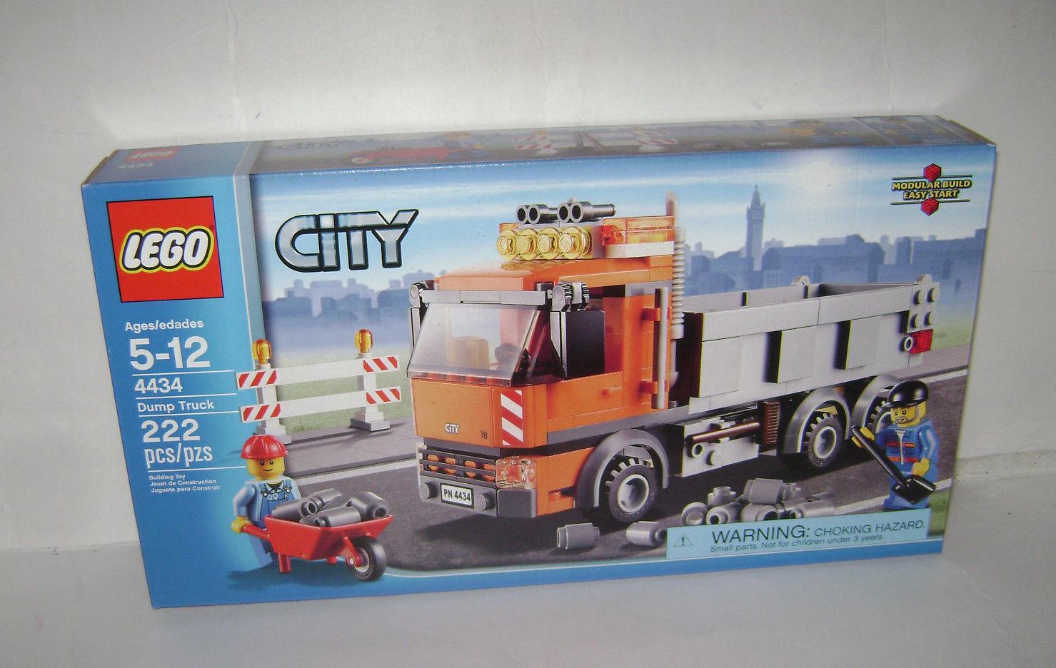 4434 Orange Building City Toy Scellée Benne Camion Lego Retraité VSMpUz