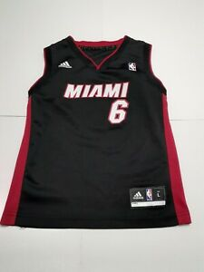 Details about Adidas LeBron James Miami Heat NBA Basketball Jersey Size Youth Large Toddler