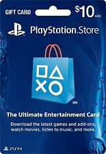 $10 Playstation Network Card for PSN PSP PS3 PS VITA *NEW*